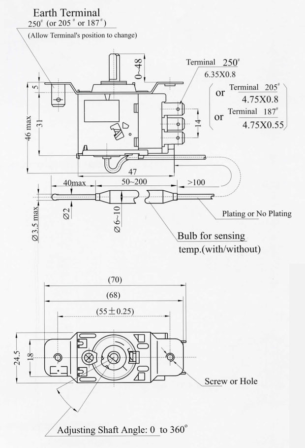 dimensions capillary pressure thermostats capillary thermostat wiring diagram at n-0.co