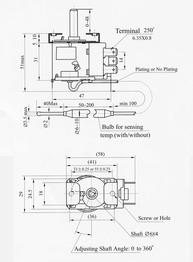 dimensions capillary pressure thermostats capillary thermostat wiring diagram at panicattacktreatment.co