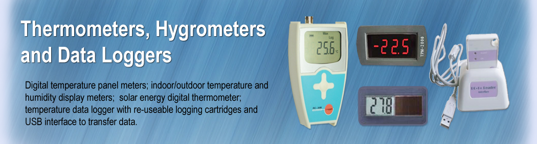 Thermometers, Hygrometers & data Loggers
